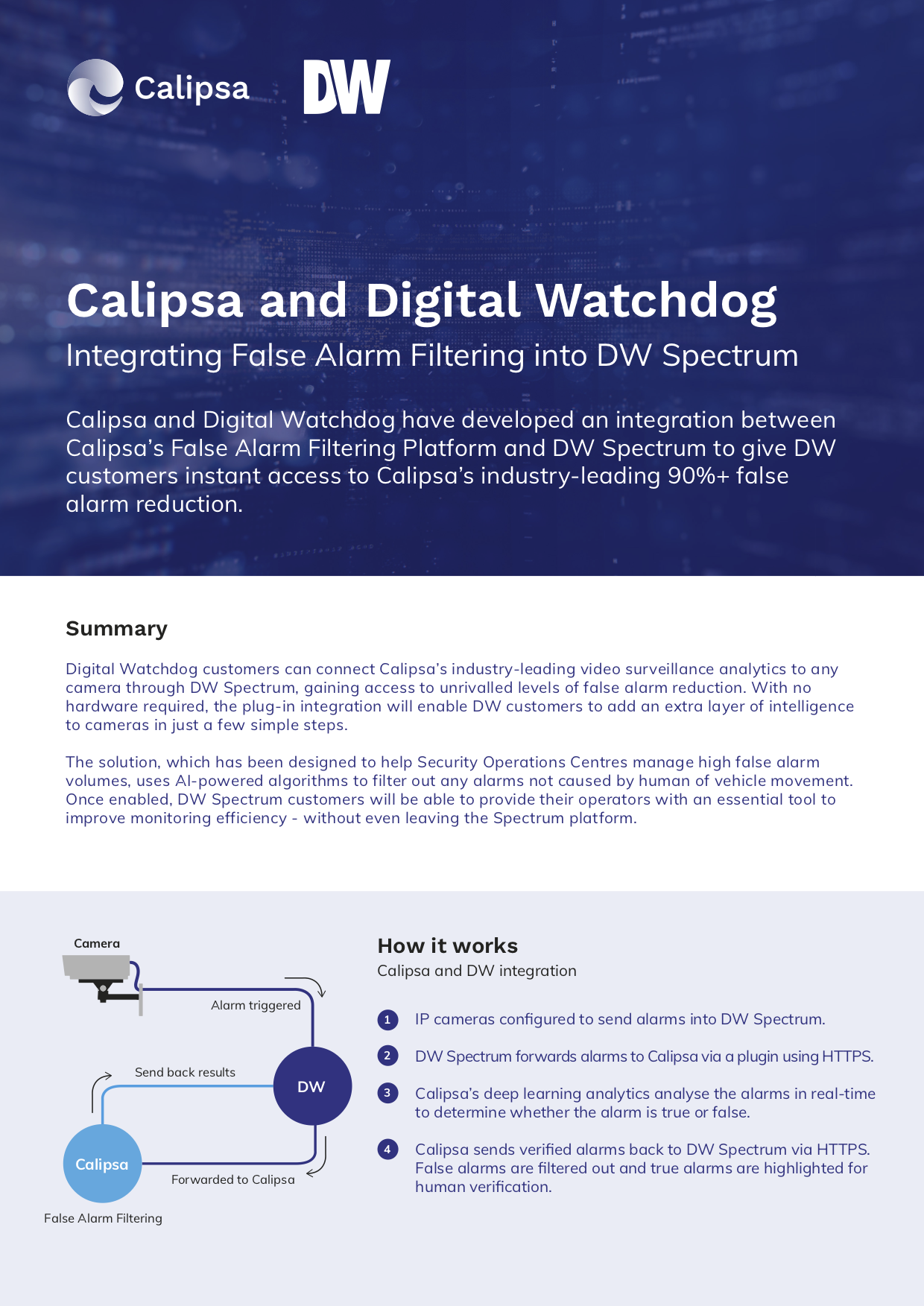 Calipsa and Digital Watchdog_Factsheet image